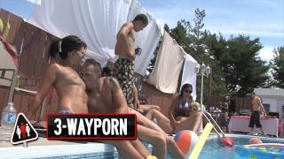 3-WayPorn - INSANE Pool Party Orgy