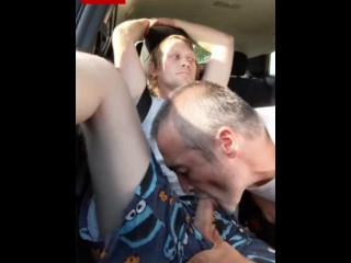 Sucking young str8 car...