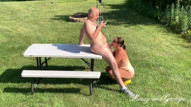 Missy tarington nude Risky outdoor blowjob full nude from missy and george