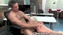 FalconStudios Cute Blonde Gets Fucked At The Office By Boss Daddy