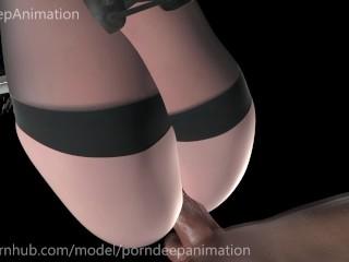 3D Hentai 2B Pov Sex with big ass Nier Automata With sound