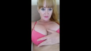 Filthy Britsh MILF with perfect suckable titties! Getting them all oily!