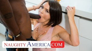 Screen Capture of Video Titled: Naughty America - Krissy Lynn will do anything to stop her son's bully