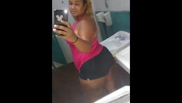 SEXY REDBONE BBW! (Public shower)