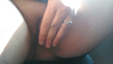 Petite BBW gets herself off using lipstick tube on city bus