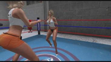 Hooters Girls Pantyhose Catfight