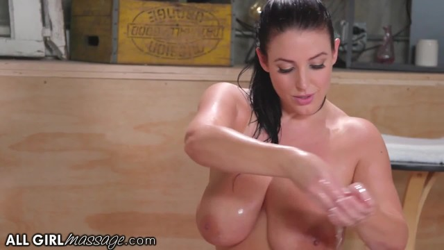 AllGirlMassage Angela White & Jade Baker Oily Dovefucking Sex