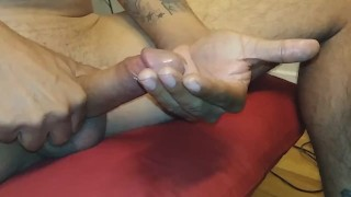 Rican Daddyy Almost Got Caught jacking off  (Latino Uncircumcised)