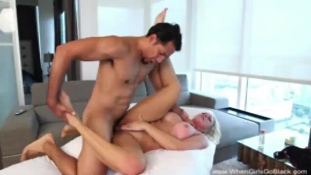 Blonde MILF Fucks Latin Stud