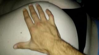 Fat slut loves slapping on the buttocks