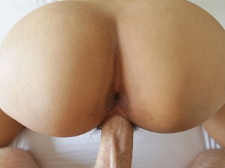 Ass asian lets big dick pound her hairy...