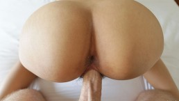 Perfect Round Ass Asian Lets Big Dick Pound Her Hairy Pussy