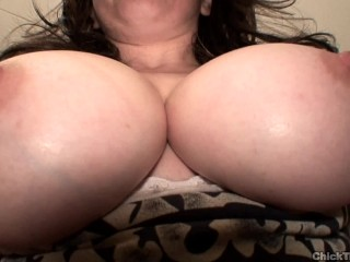 Tits out homemade toilet busty britney guzzles more...