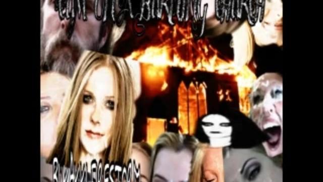 Bondage free black vedeo Kvlt black metal project - cum on a burning church - bukakki firestorm free