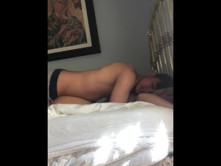 Virgin Babe Tied and Fucked on Bed