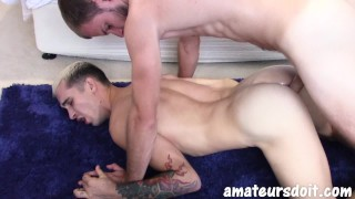 AmateursDoIt - Hot Australian guy fucks a tight body twink with tats