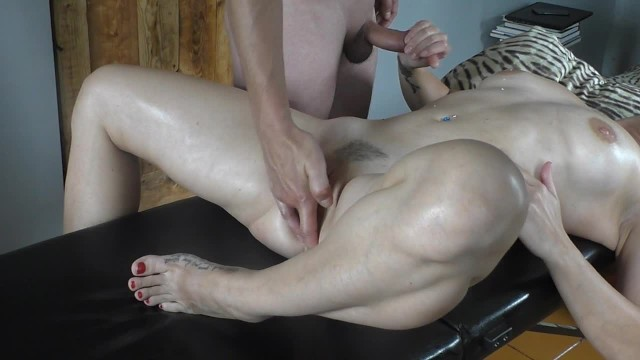 Teen fucked on massage table Oil massage hot masturbation on massage table fuck blowjob cumshot