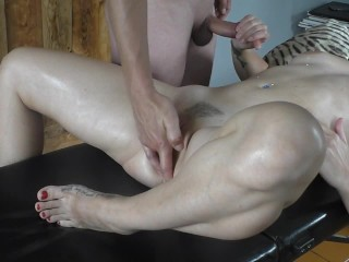 Hot masturbation table fuck blowjob cumshot...