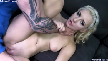 Step Sister's Wet Yoga Pussy Teases Cock Until Her Tits Are Covered in Cum