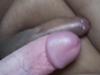 Shemale tiny sissy clitty slapped a huge 9...