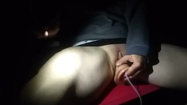 Dildo while.talking to the neighbor with hubby there