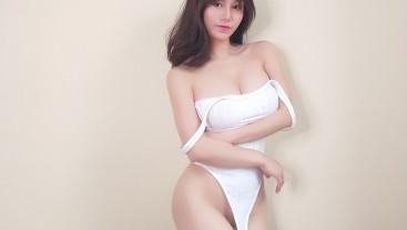 sexy bodysuit changing 小姐姐试穿连体衣 污老师炎炎