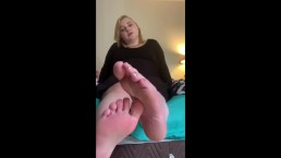 POV BBW StepAunt catches you staring at her shoes