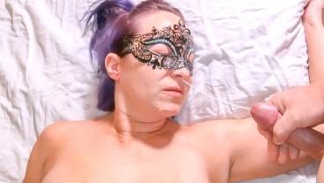 Petite Teen Body MILF Sucks Cock (BJ), Rides DP Pussy & Anal, Takes Facial