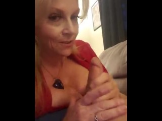 THICK DIRTY TALKING MOM BLOWJOB & HAND JOB UNTIL HE CUMS TABOO ROLE PLAY