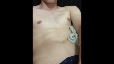 Virgin Boy Showing Off