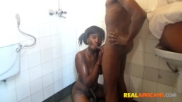 Sexy African Girl Fucked In the Shower