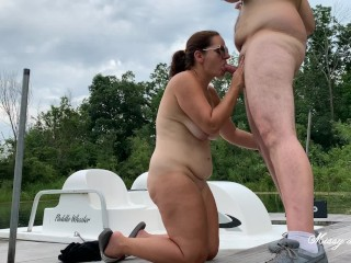 Outdoor Blowjob – Missy Sucks Georges Uncut Cock Full Nude Married Couple