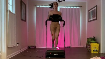 transsexual running on treadmill naked