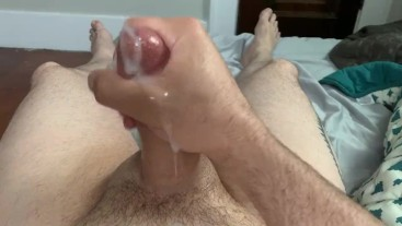 Stroking My Cock in the Morning for a Nice Cumload