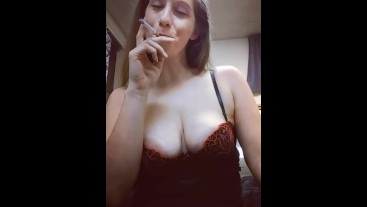 Smoking and Playing With My Tits TEASER