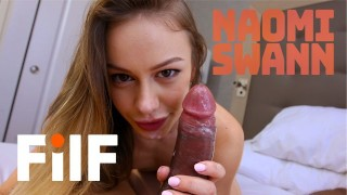 FILF - Stepdaughter Naomi Swann Wants Stepdad To Give Her Her First Orgasm