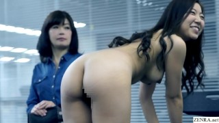 JAV casting stepmother watches daughter strip for audition