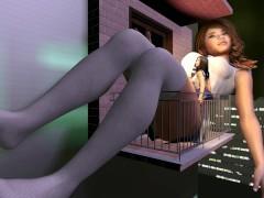 Giantess School Girl Grows Tall as a Building - Big Boob Teen Squishes Pal