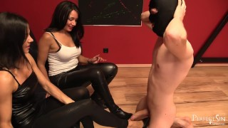 Feet Slut - Perfect Footrest for Mistress Mera and Lady G