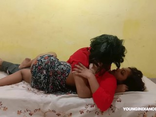 Hot teen indian on real homemade...