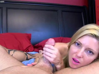 Sexy Blonde Teases and Strokes Cock Until Cum Blast – Niki Lee Young