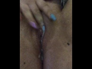Crazy Wet Creamy Pussy Cums on Her Own Fingers!!!
