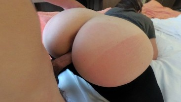 Fuck Big Ass Leggings Step Sister in Hotel