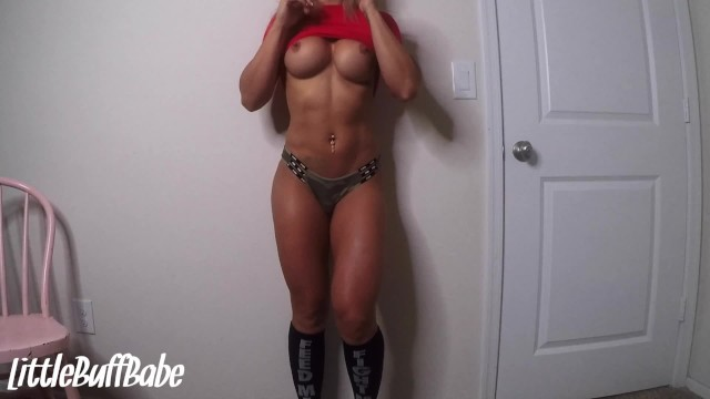 College Athlete Strip Tease and Tries Big Dildo - Amateur