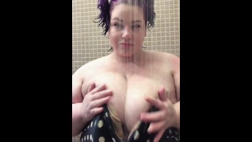 SSBBW After swim shower