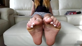 Trailer best oil tease evere made - Victoria's feet soles and toes