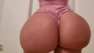 A busty pawg in PJ's is getting her booty worship and fucked