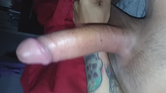 Mmm cum - Look at this big fat uncut juicy cock full of pre cum mmm - full video