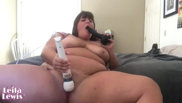 Fucking My Face with Big Black Dildo While Playing with my Pussy