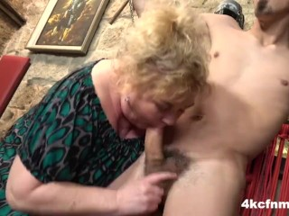 Mature bbw tortures young the basement...